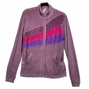 Lululemon Terry Lilac Purple Tri Color Jacket